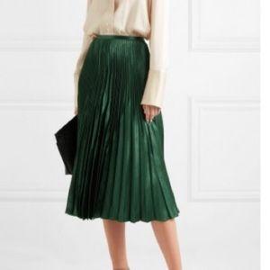 Vince Green Pleated Skirt Sz. 4
